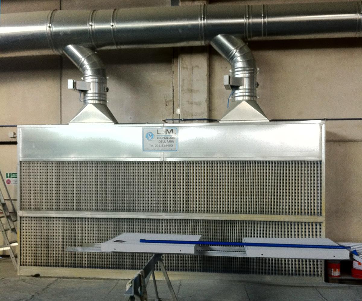 Plafoniere Per Cabine Di Verniciatura : Cabine di verniciatura a umido l m tecnologie dell aria
