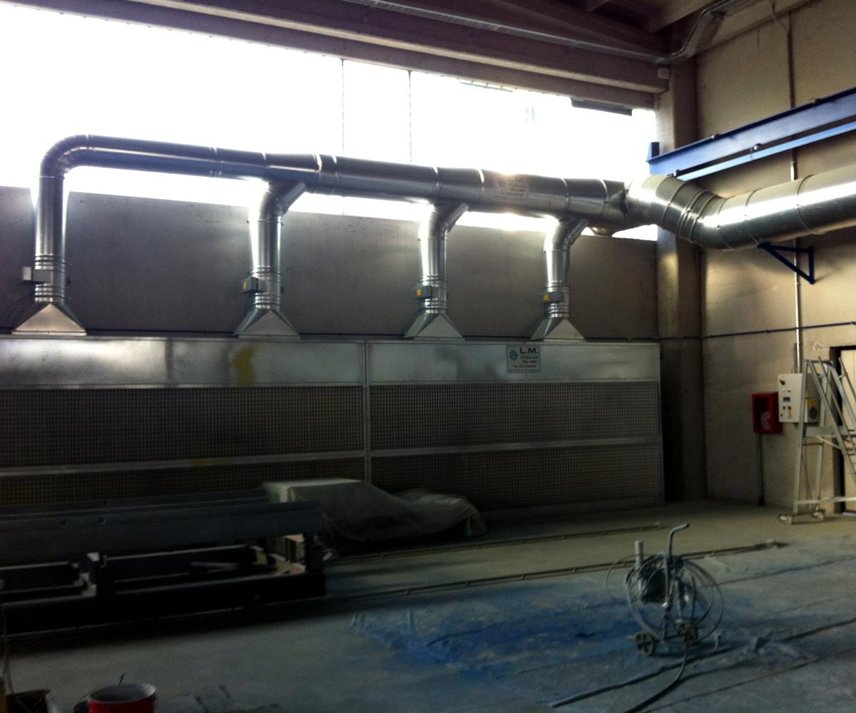 Plafoniere Per Cabine Di Verniciatura : Cabine di verniciatura a umido l.m. tecnologie dellaria