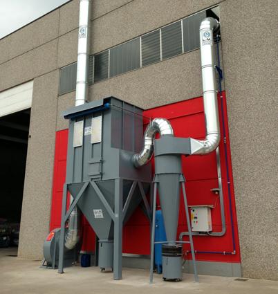 aspirazione polveri biomasse biogas