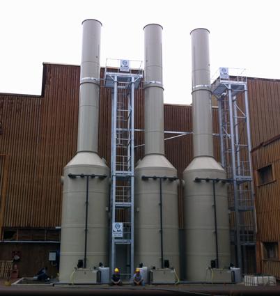 torri scrubber depurazione fumi industriali